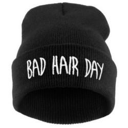 """Mütze """"bad hair day"""" schwarz"""