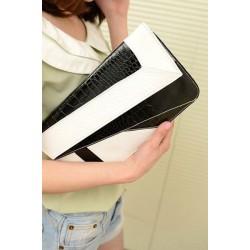Handtasche schwarz / weiss
