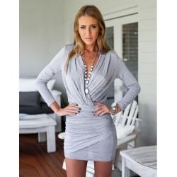Cocktail Kleid grau