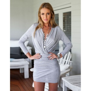 Cocktail Kleid grau