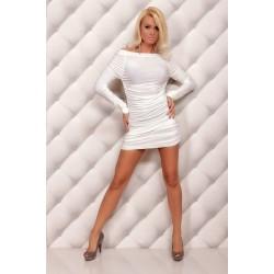 Langarm Kleid weiss