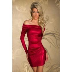 Langarm Kleid rot
