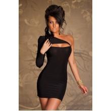Einarm Kleid schwarz