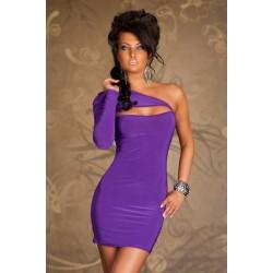 Einarm Kleid violett