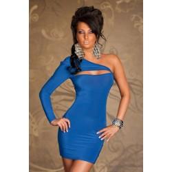 Einarm Kleid blau