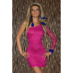 Spitze Kleid pink