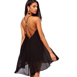 Chiffon Kleid schwarz