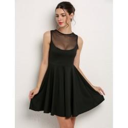 Mesh Kleid schwarz
