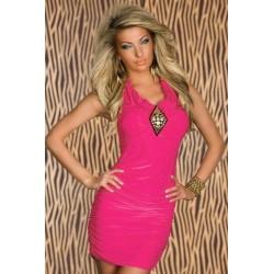 Nieten Kleid pink