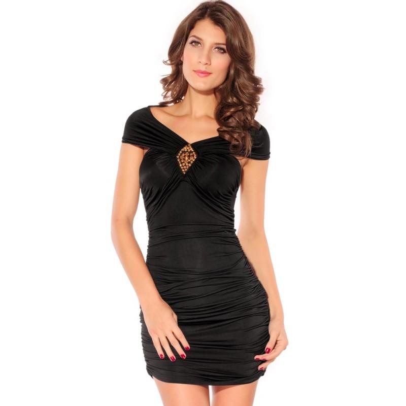 Nieten Kleid schwarz