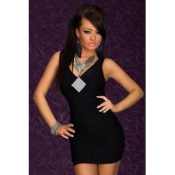 Strass Kleid schwarz