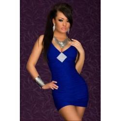 Strass Kleid blau