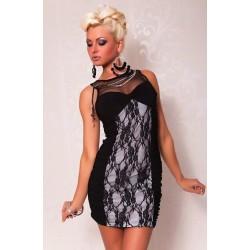 Spitze Kleid weiss / schwarz