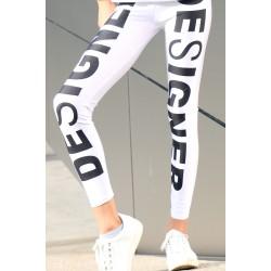 Designer Leggings weiss