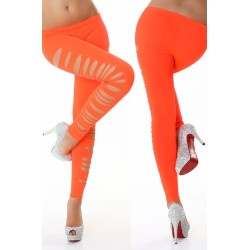 Side Cut Leggings orange