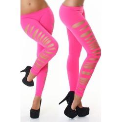 Side Cut Leggings pink