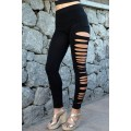 Side Cut Leggings schwarz