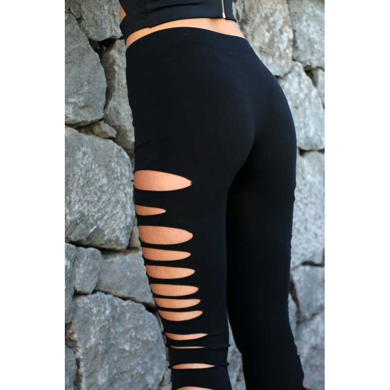 how to cut leggings on the side