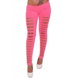 Cut Out Leggings pink