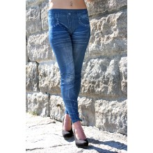 Nieten Jeggings blau