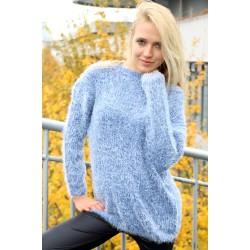 Pullover blau/weiss