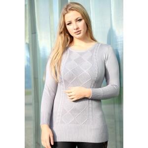 Long sweater gray