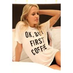 """""""COFFEE"""" Shirt weiss"""