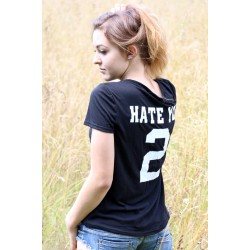 """Hate you 2"" Shirt schwarz"