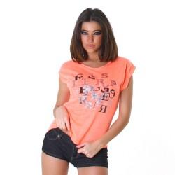 Kurzarm Shirt orange