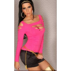 Cut Out Shirt pink