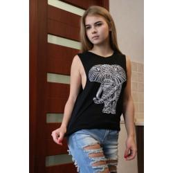 Oversized Shirt schwarz