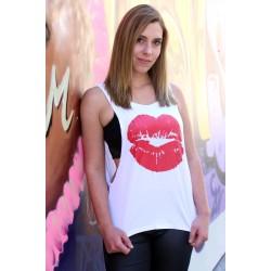 Oversized Kiss Shirt weiss