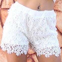 Spitze Shorts weiss