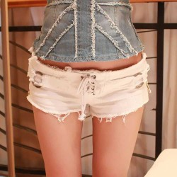 Jeans Shorts weiss