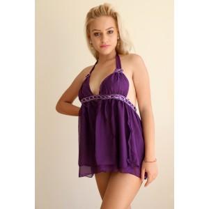 Neckholder Babydoll purple